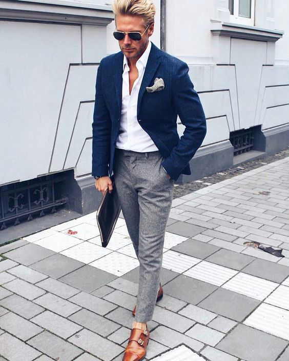 07-an-elegant-summer-work-look-with-a-white-shirt-a-navy-blazer-grey-pants-brown-shoes-and-su...jpeg