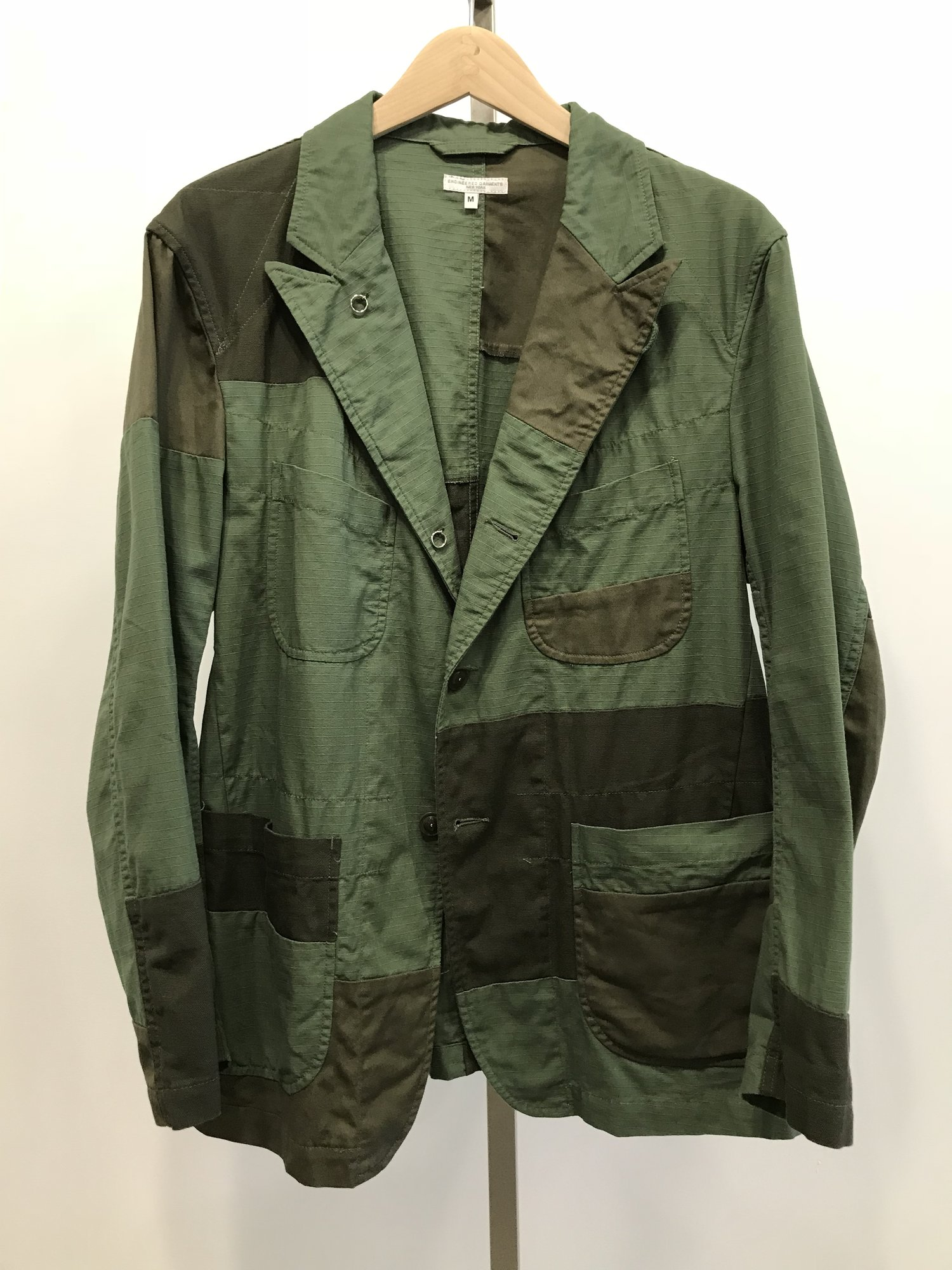 19SD005 Bedford Jacket CT010 Olive Cotton Ripstop.JPG