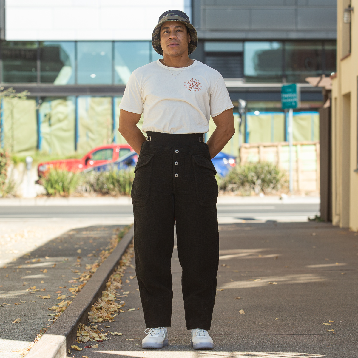 1p - British Military Sweatpants - Black Waffle Double Cloth-Onbody-5760 x 3840-30.jpg