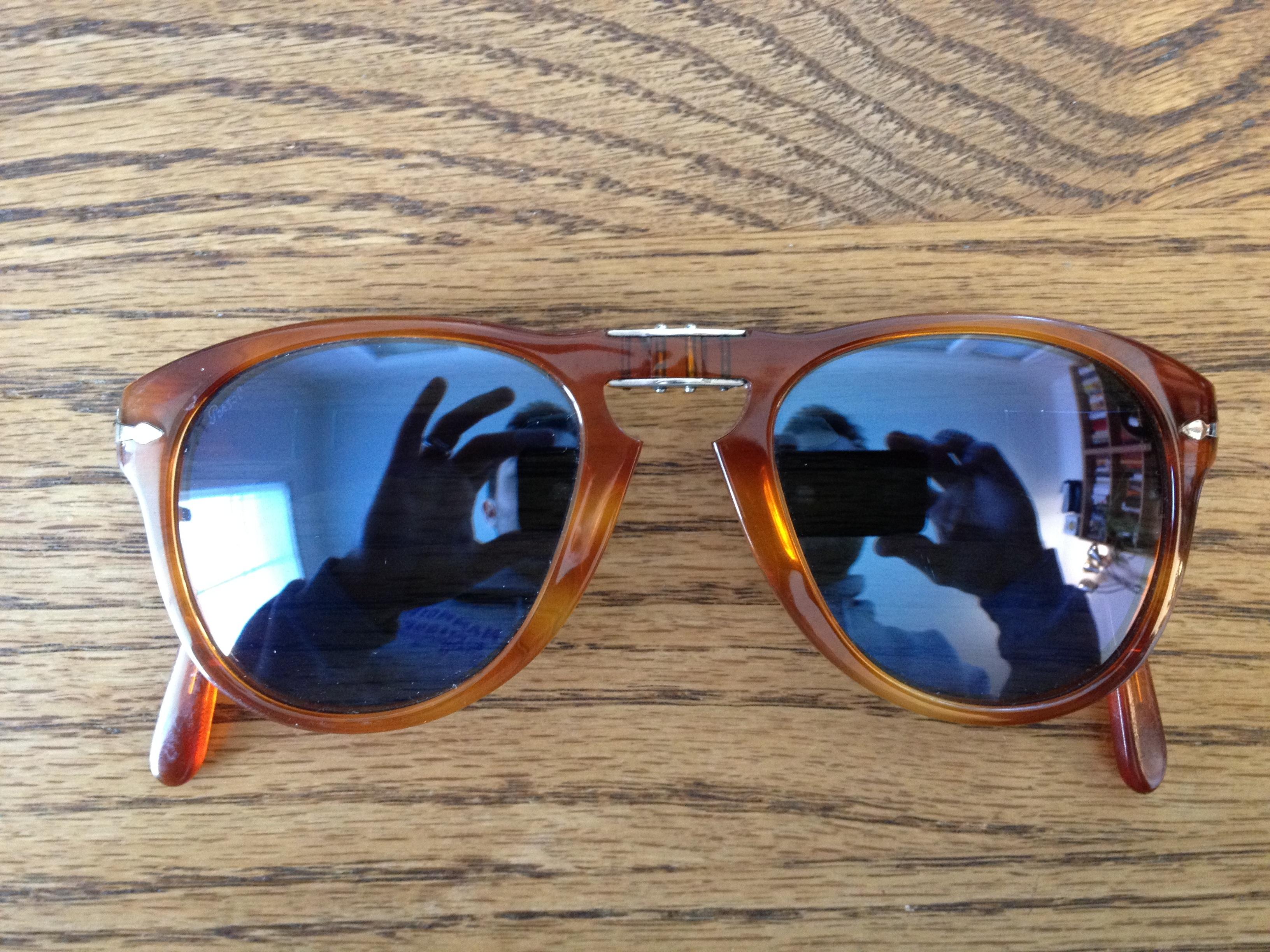 Persol 714-SM Havana Blue folding sunglasses - size 54. Steve ... 182395e9da97