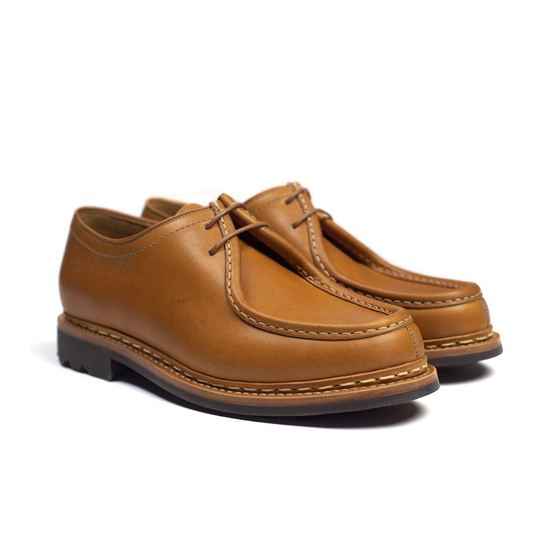 20210409 20190730 NMWA Heschung Thuya moccasin toe shoe in naturel chestnut calf rubber sole 01.jpg