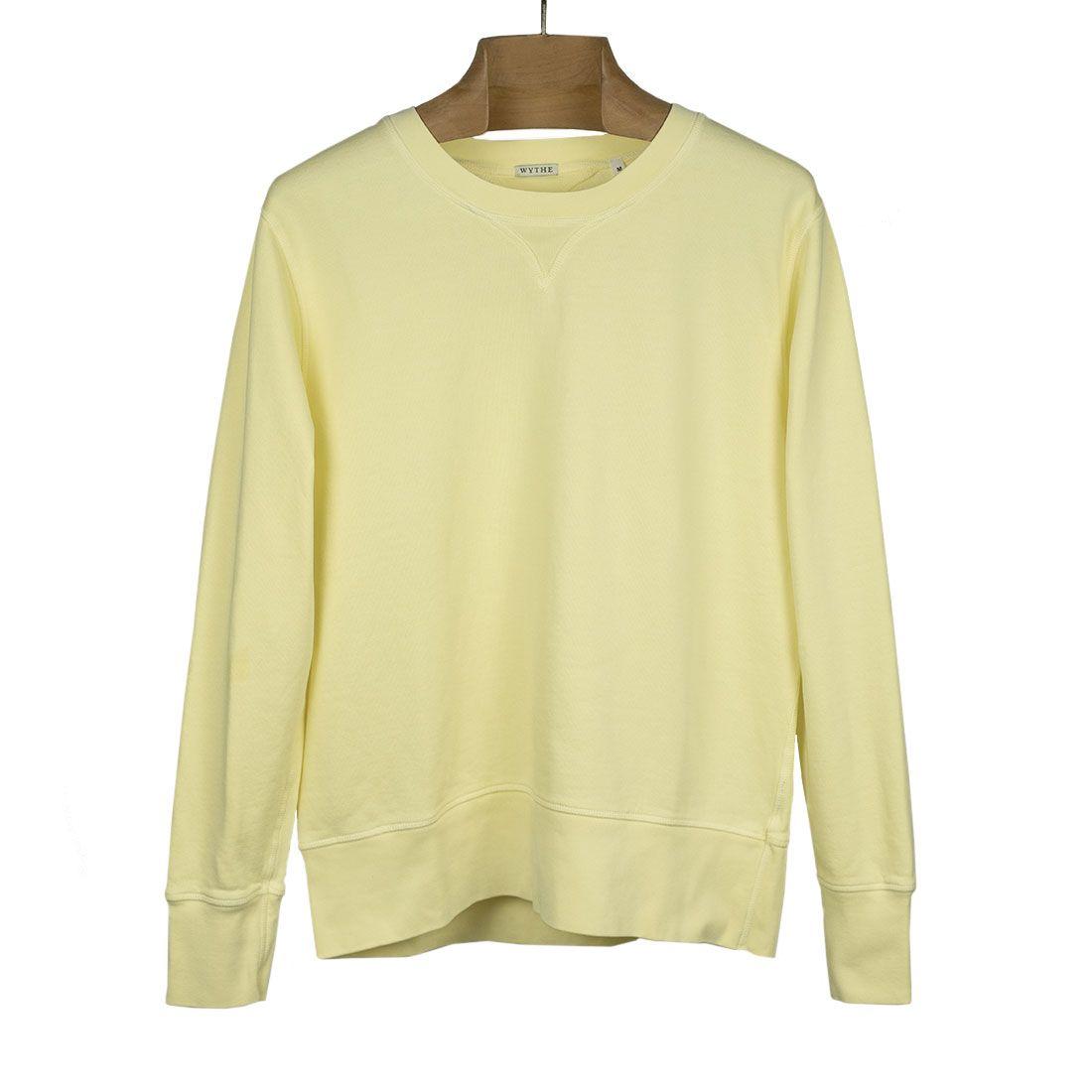 20210409 NMWA Wythe Crewneck sweatshirt in lemonade yellow cotton 01.jpg