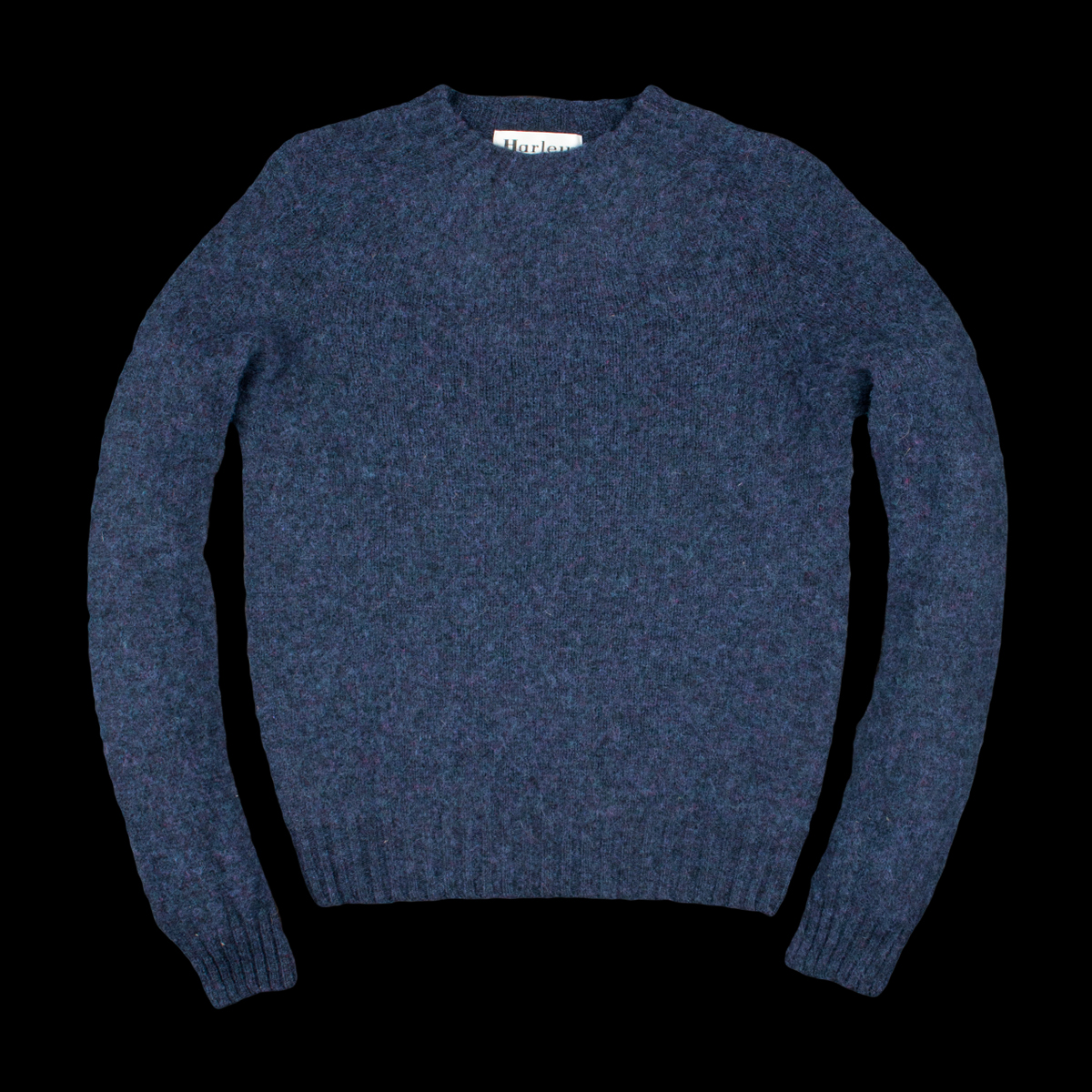 Harley Of Scotland For Unionmade Shetland Crew Neck Sweater In
