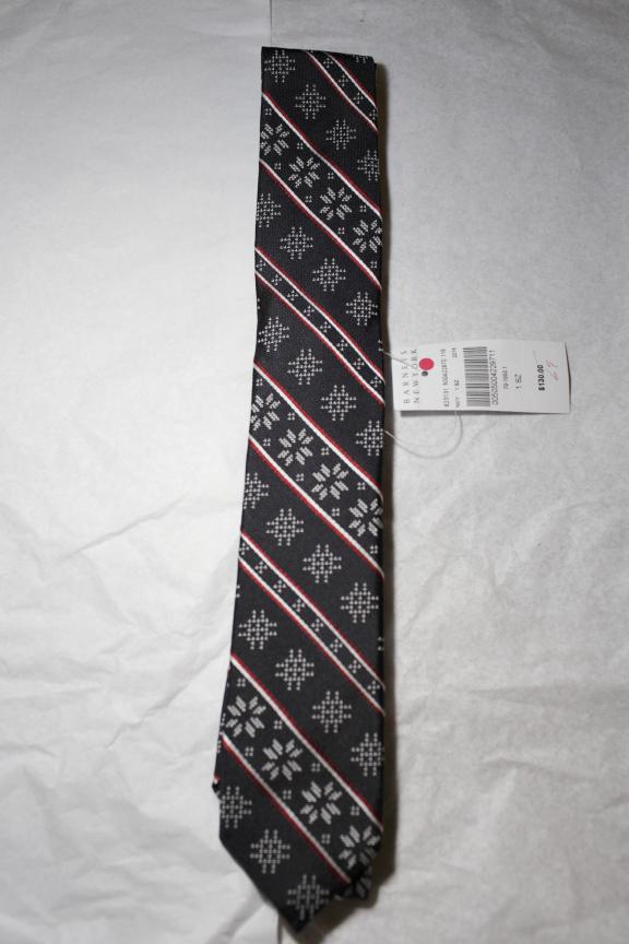 BNWT Fairfax Navy Silk Fair Isle tie | Styleforum
