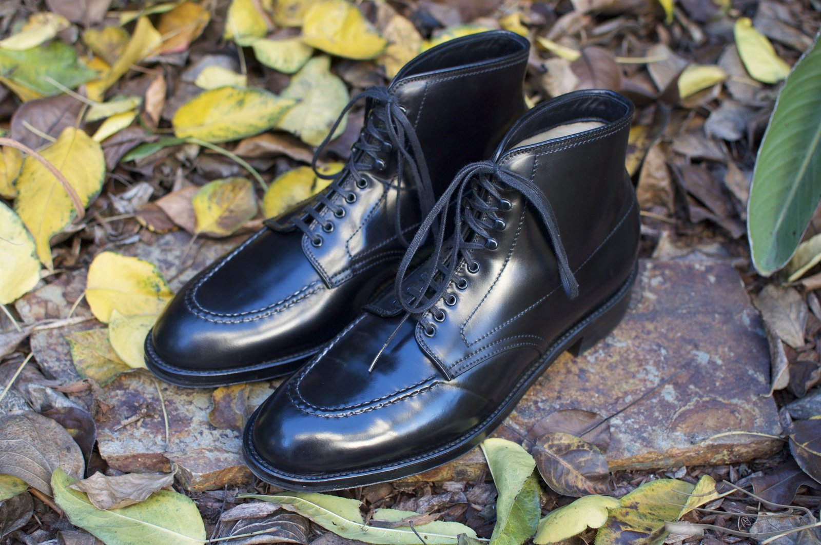 Alden Black Shell Cordovan U-Tip Boots - 2020-11-27 - 1.jpg