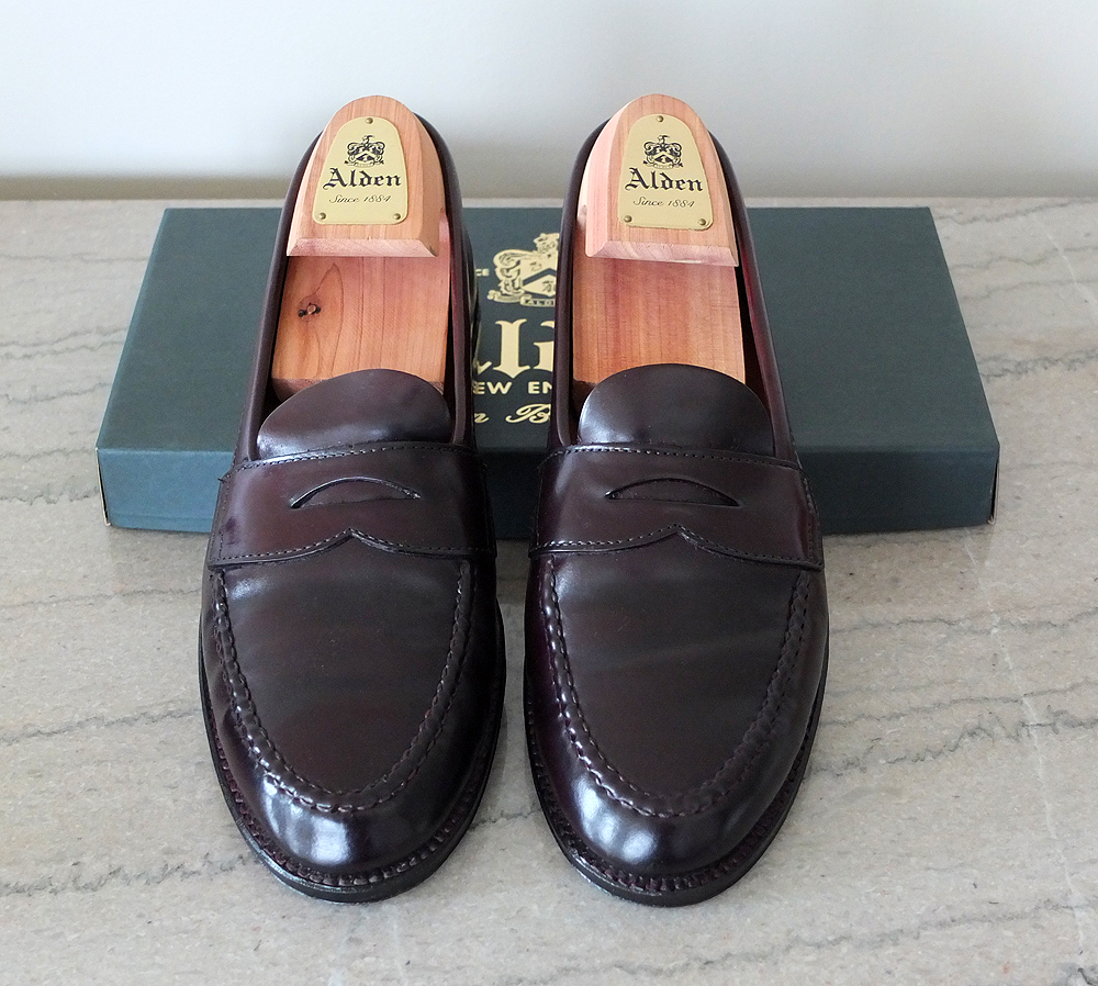 Alden-Brooks-Brothers-986-Shell-Cordovan-Penny-Loafers-Red-Clay-Soul-Top.jpg