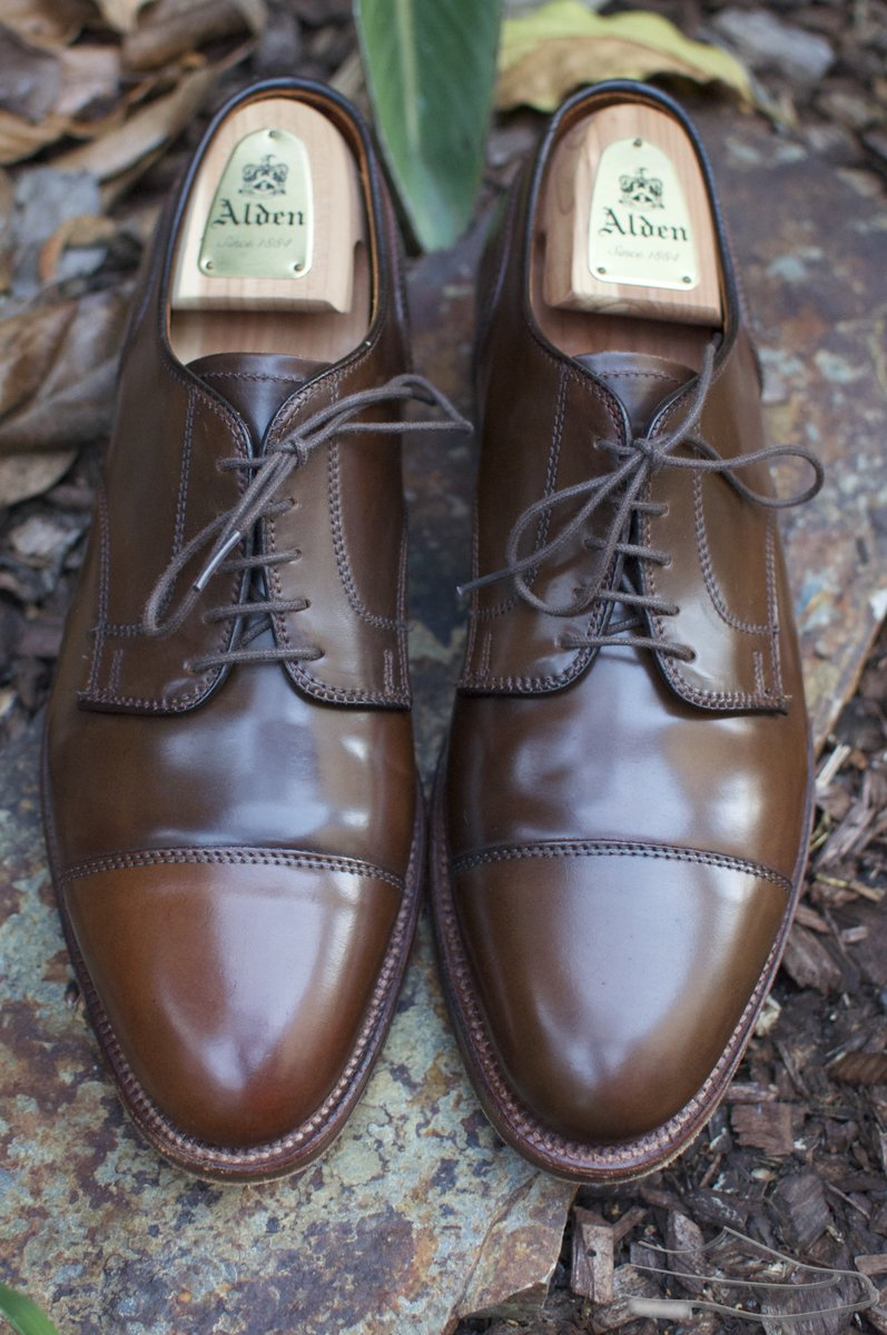 Alden Cigar Shell Cordovan CT Blucher - 2020-09-24 - 4.jpg