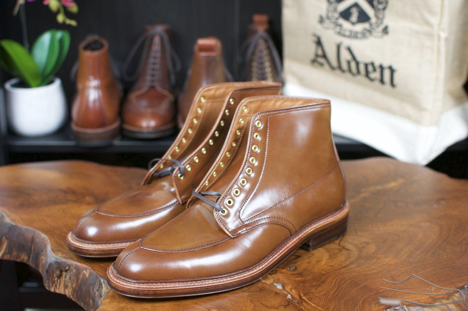 Alden Ravello Shell Cordovan V-Tip Boots - Preview - 2.jpg