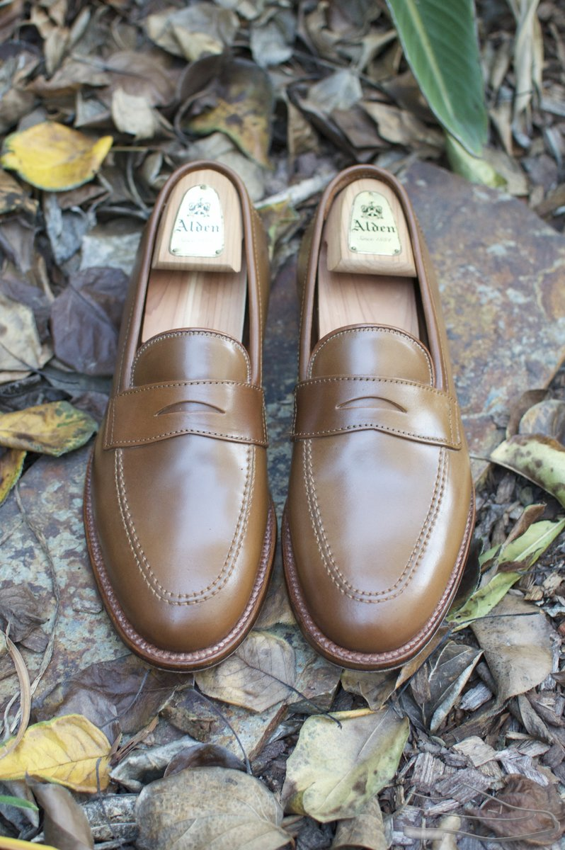 Alden Whiskey Shell Cordovan Penny Loafers - 2020-12-02 - 4.jpg