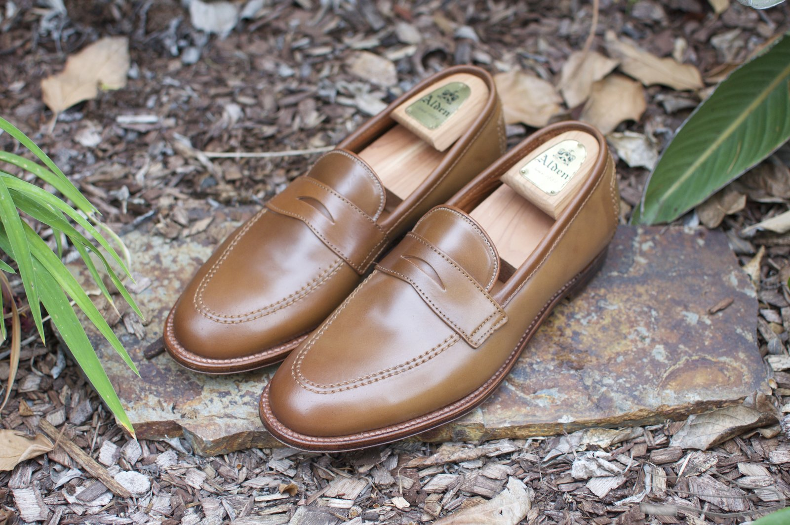 Alden Whiskey Shell Cordovan Penny Loafers - 2021-05-15 - 1.jpg