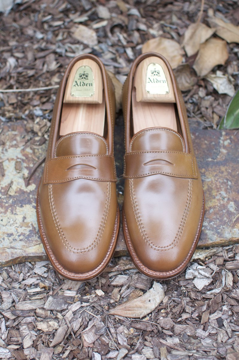 Alden Whiskey Shell Cordovan Penny Loafers - 2021-05-15 - 4.jpg