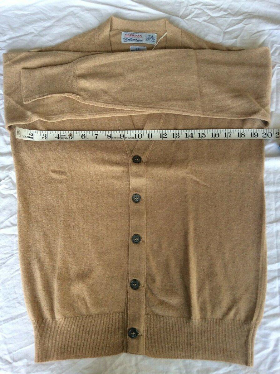 Ballantyne Vintage Men's Cashmere light camel Pullman Cardigan, BNWT Size 38 4.jpg