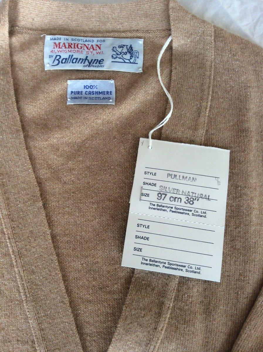 Ballantyne Vintage Men's Cashmere light camel Pullman Cardigan, BNWT Size 38.jpg