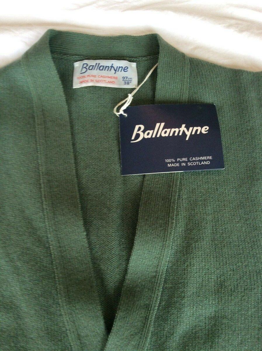 Ballantyne Vintage Men's Cashmere Lorne 2ply Waistcoat Vest Green BNWT Size 38 2.jpg