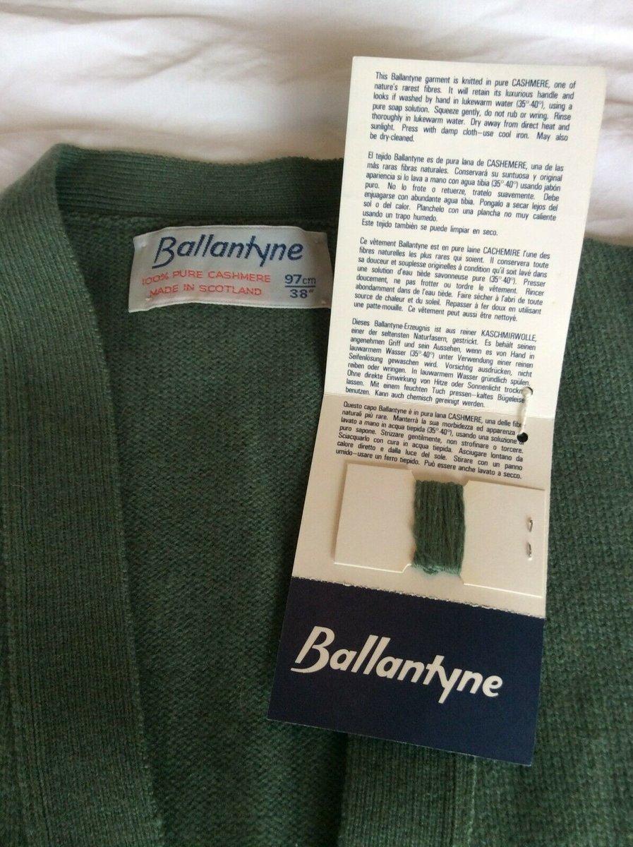 Ballantyne Vintage Men's Cashmere Lorne 2ply Waistcoat Vest Green BNWT Size 38 3.jpg