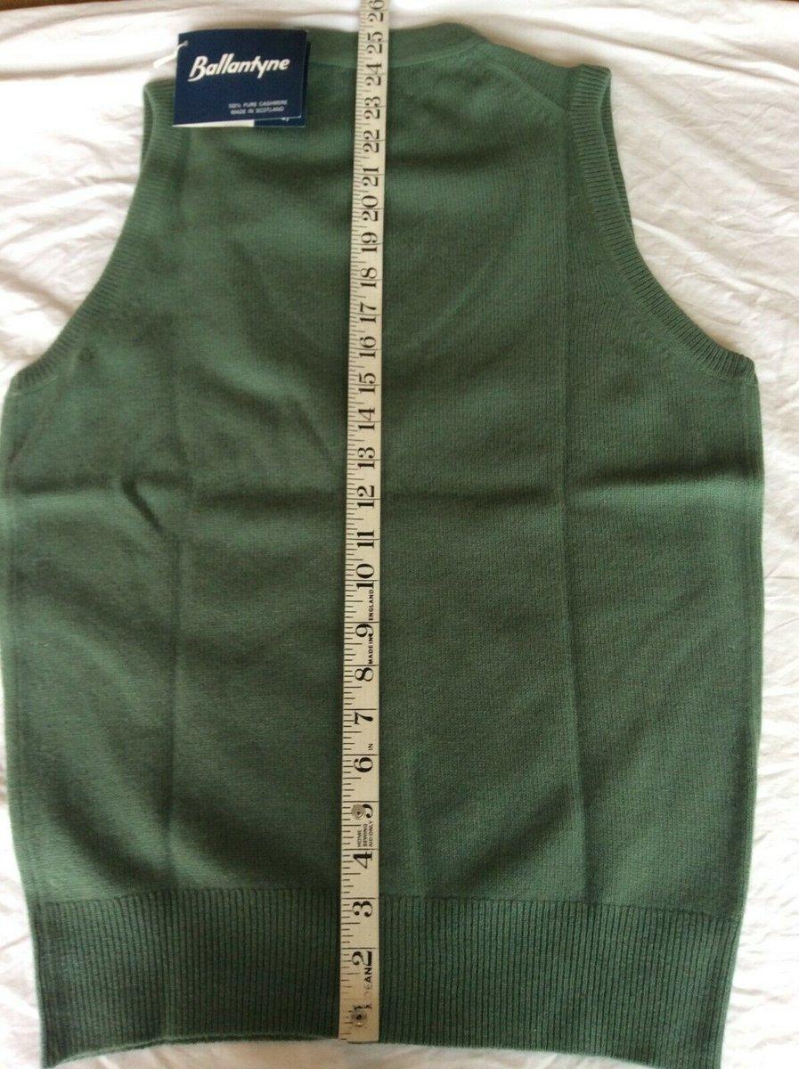 Ballantyne Vintage Men's Cashmere Lorne 2ply Waistcoat Vest Green BNWT Size 38 4.jpg