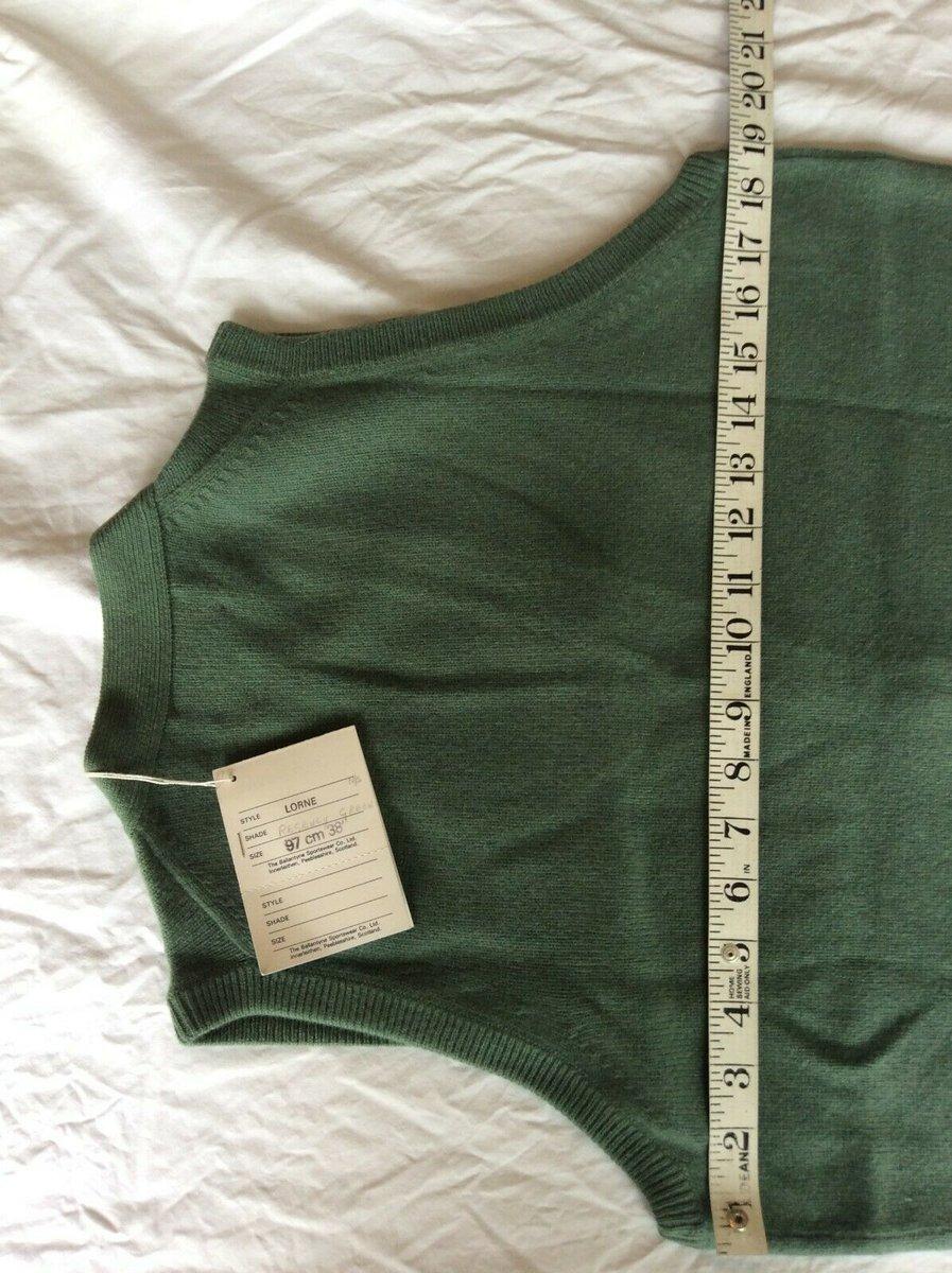 Ballantyne Vintage Men's Cashmere Lorne 2ply Waistcoat Vest Green BNWT Size 38 5.jpg