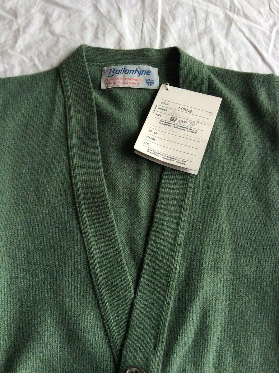 Ballantyne Vintage Men's Cashmere Lorne 2ply Waistcoat Vest Green BNWT Size 38.jpg