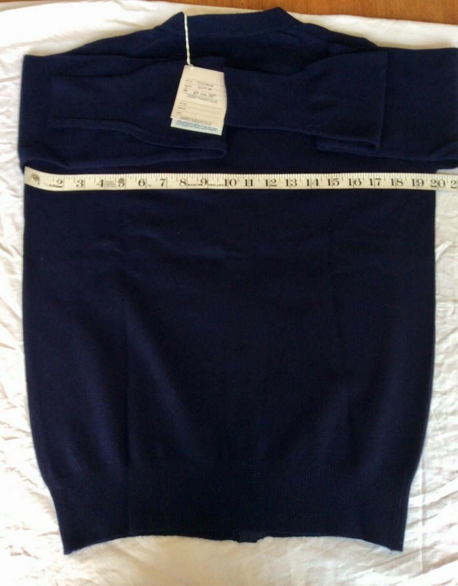 Ballantyne Vintage Men's Cashmere Navy Pullman Cardigan, New with tags Size 38 5.jpg
