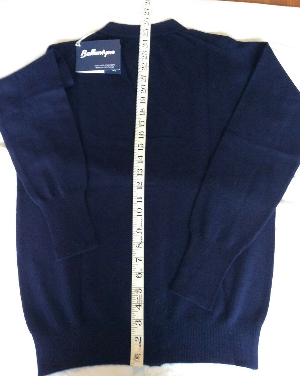 Ballantyne Vintage Men's Cashmere Navy Pullman Cardigan, New with tags Size 38 6.jpg