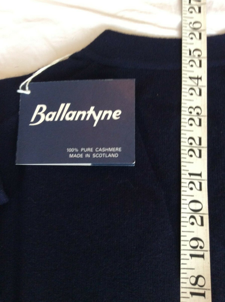 Ballantyne Vintage Men's Cashmere Navy Pullman Cardigan, New with tags Size 38 7.jpg