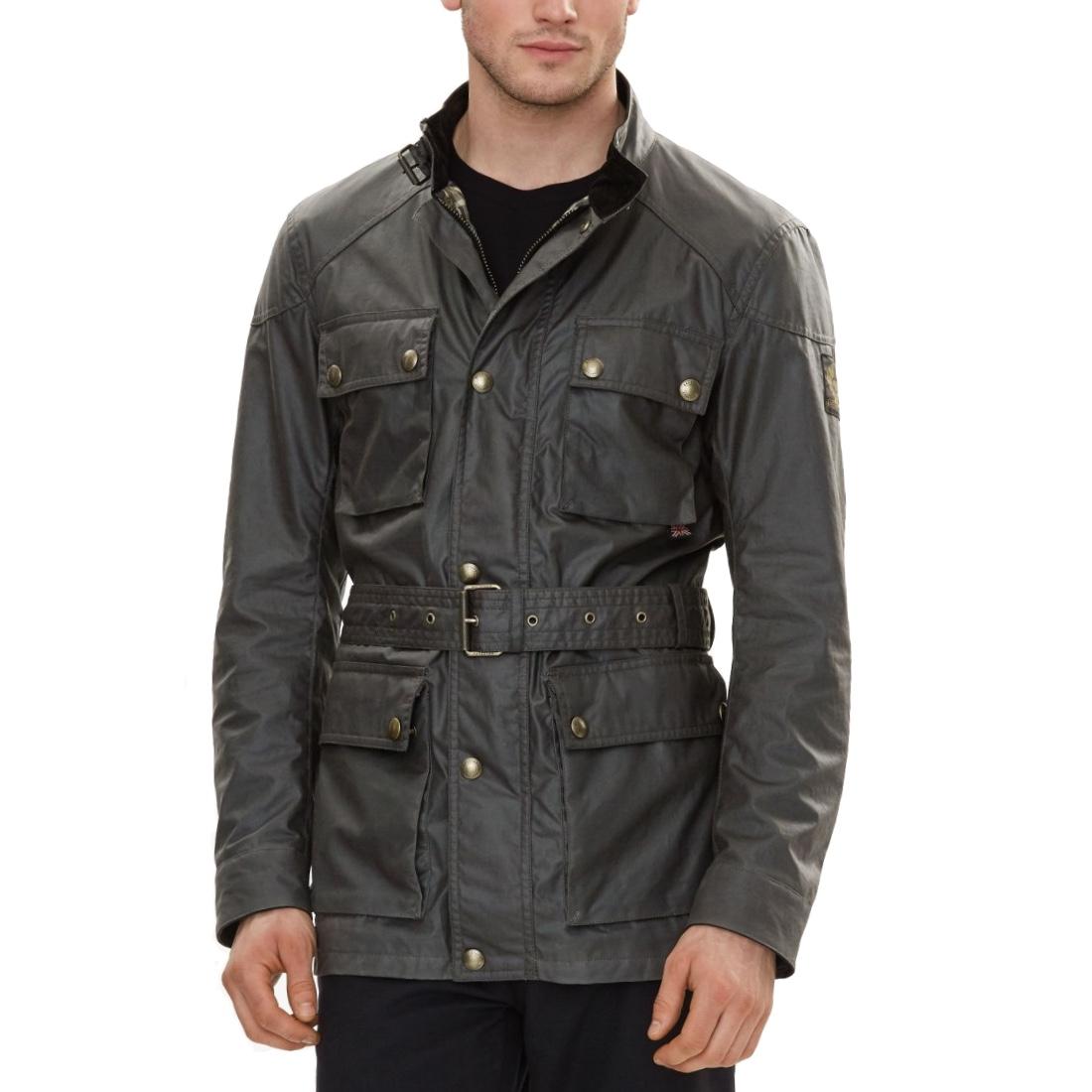 Belstaff The Roadmaster Jacket In Windward Grey Signature 6Oz Waxed Cotton Men 1.jpg