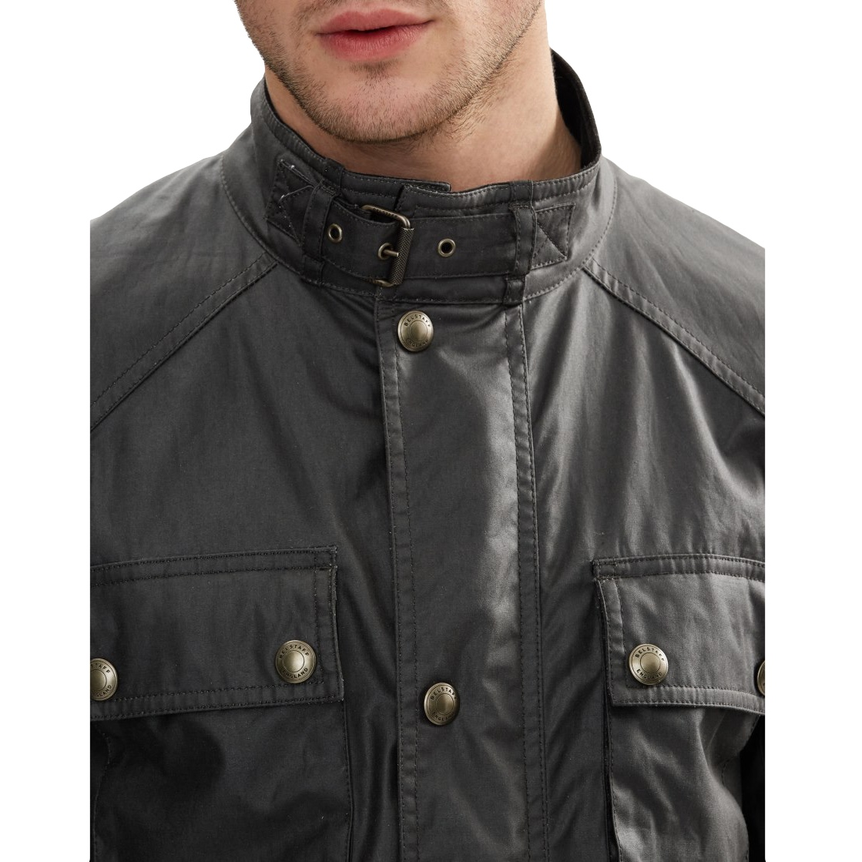 Belstaff The Roadmaster Jacket In Windward Grey Signature 6Oz Waxed Cotton Men 3.jpg