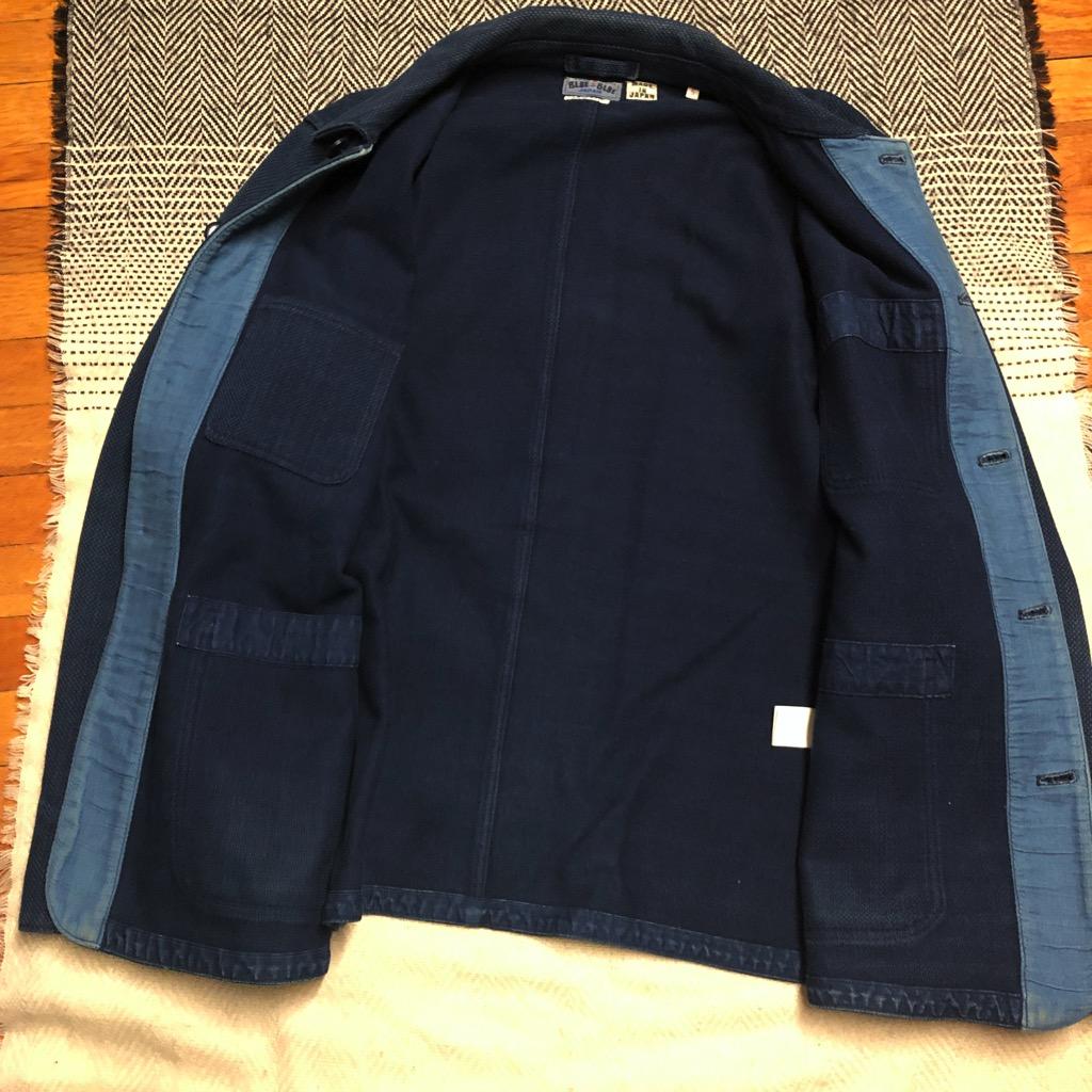 Blue Blue Japan yarn-dyed indigo sashiko coverall jacket in size XL_3.jpg