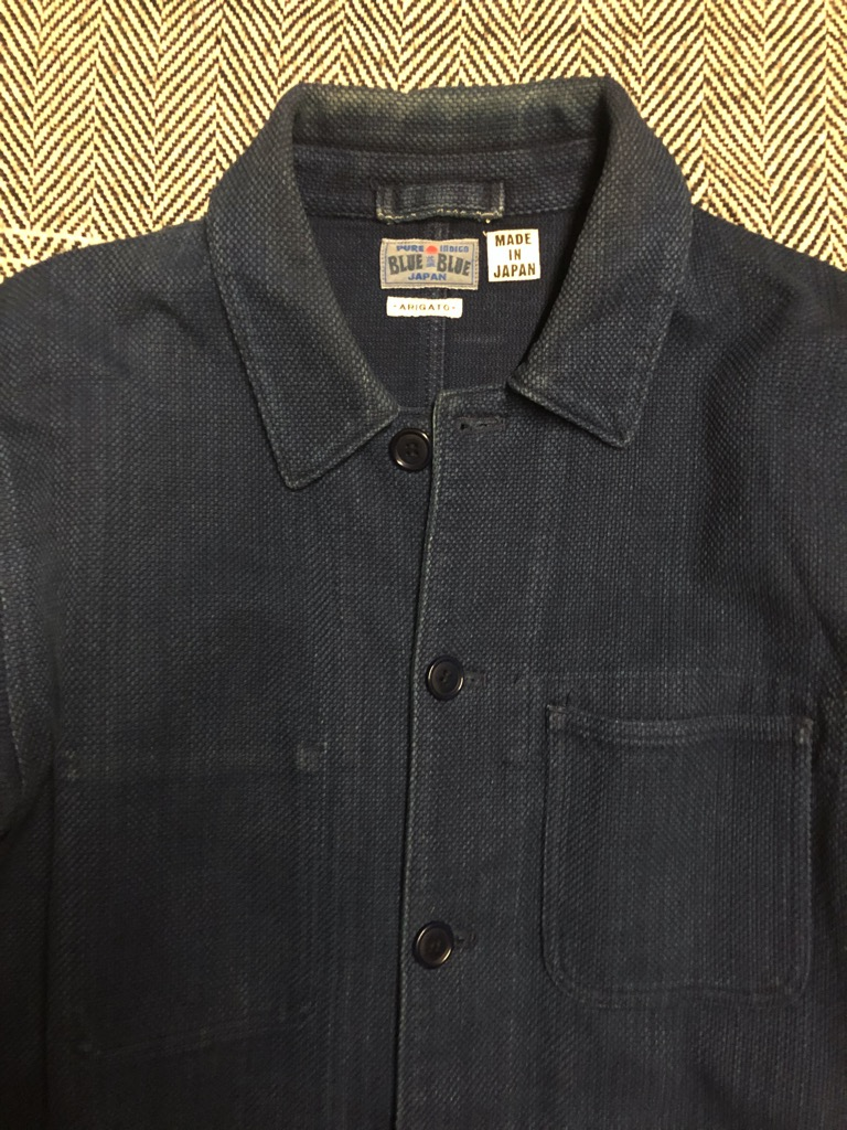 Blue Blue Japan yarn-dyed indigo sashiko coverall jacket in size XL_4.jpg