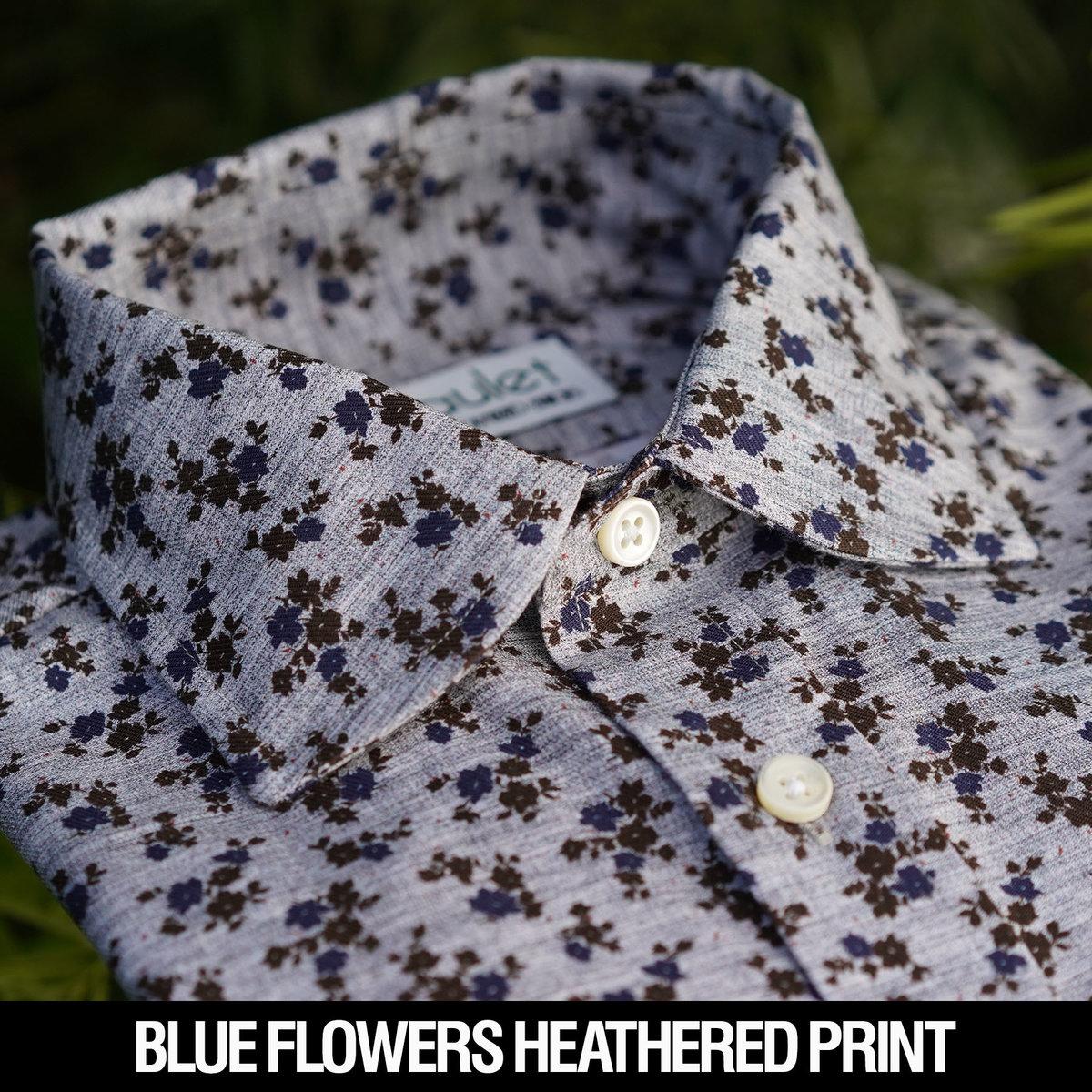 Blue Flowers Heathered Floral.jpg
