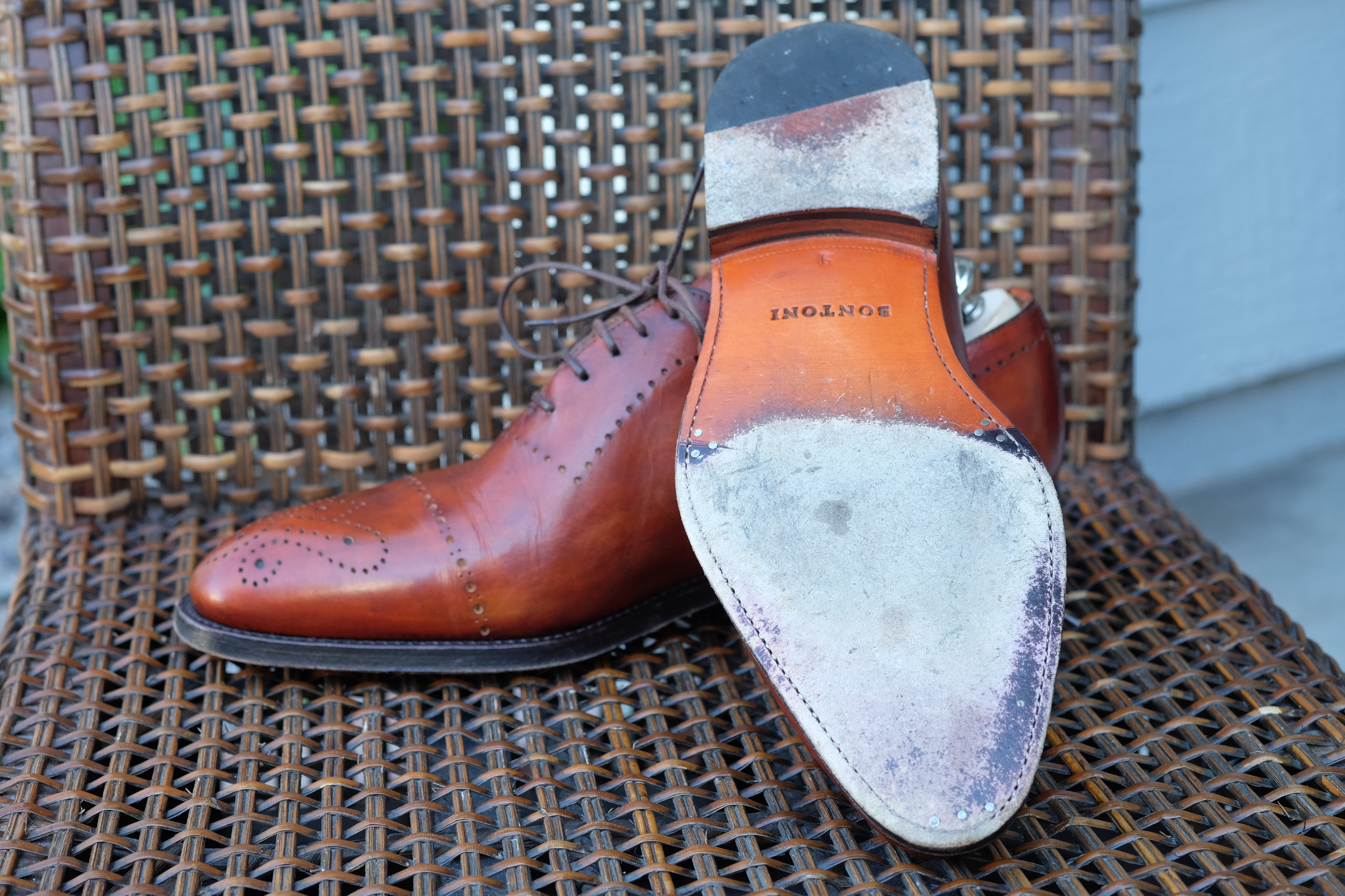 Bontoni Wholecut with Medallion and Punching in Chestnut Leather-7.jpg
