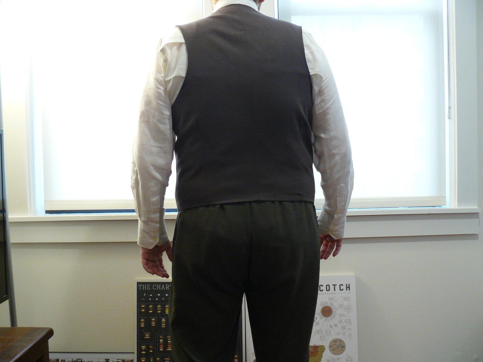 Brown Waistcoat from the Rear.JPG