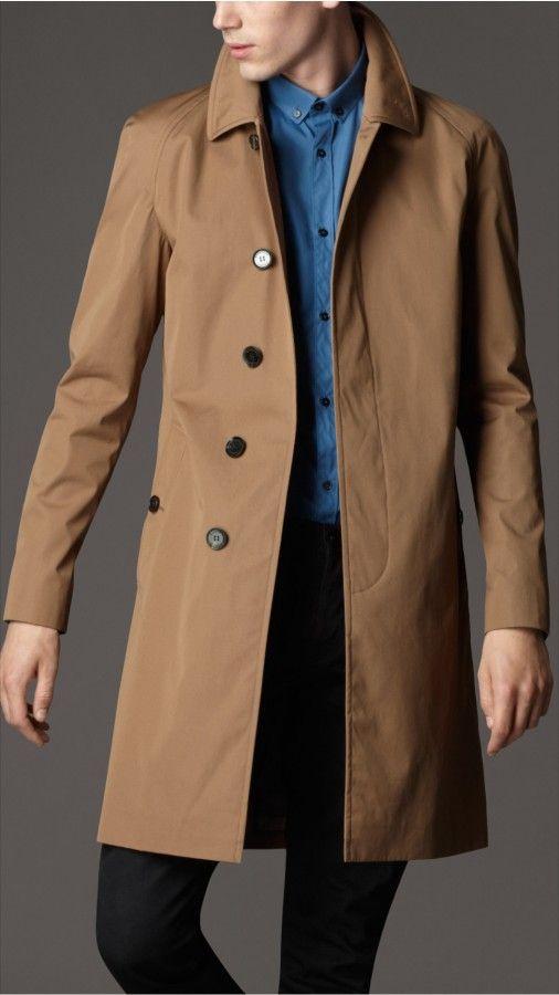 Burberry London men's single breasted cotton rain coat.jpg