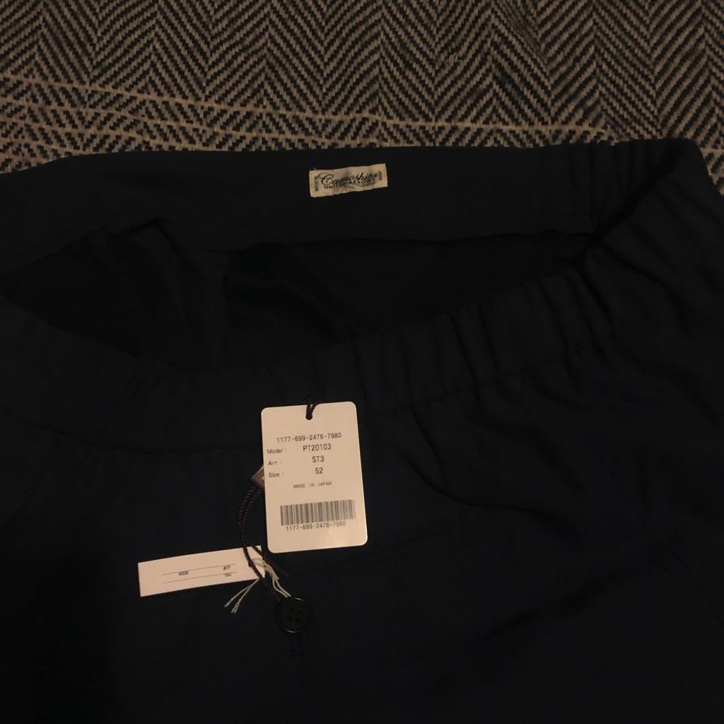 Camoshita silk-linen easy pants in navy in size 52_2.jpg