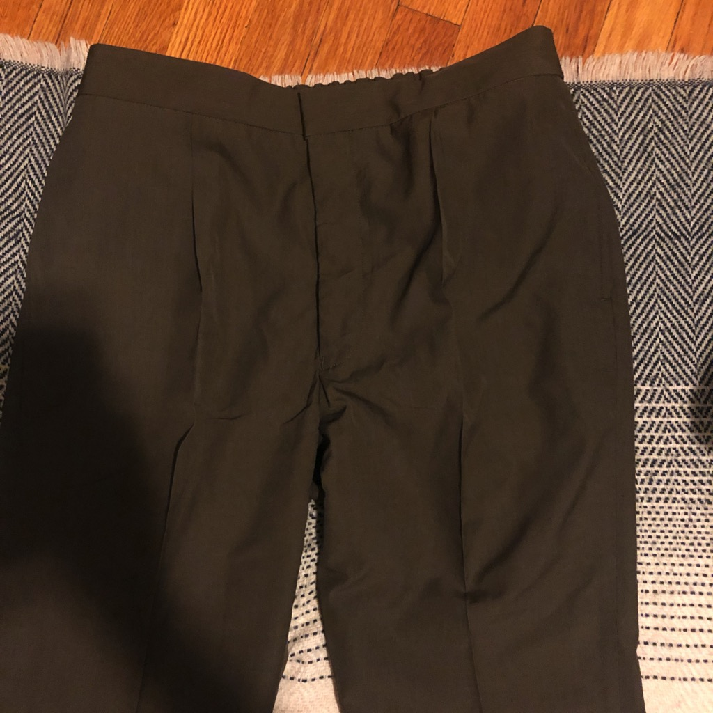 Camoshita silk-wool easy pants in dark brown in size 52.jpg
