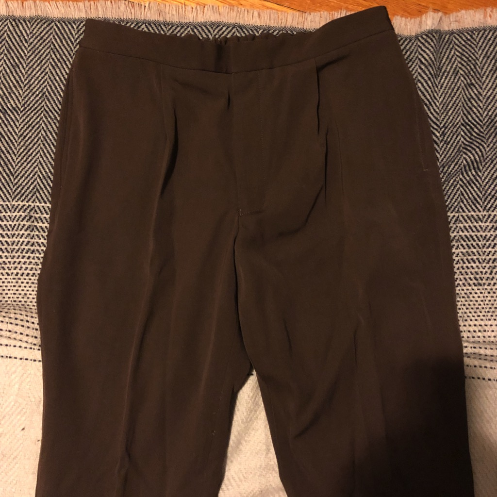 Camoshita wool twill easy pants in brown in size 52_2.jpg