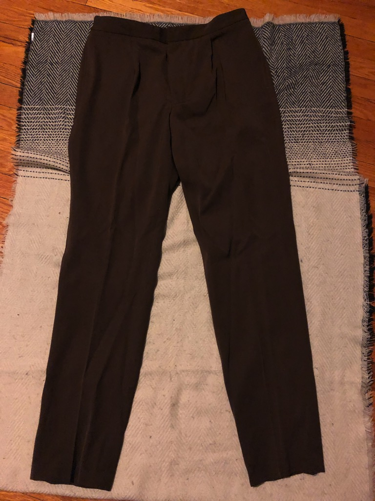 Camoshita wool twill easy pants in brown in size 52_4.jpg
