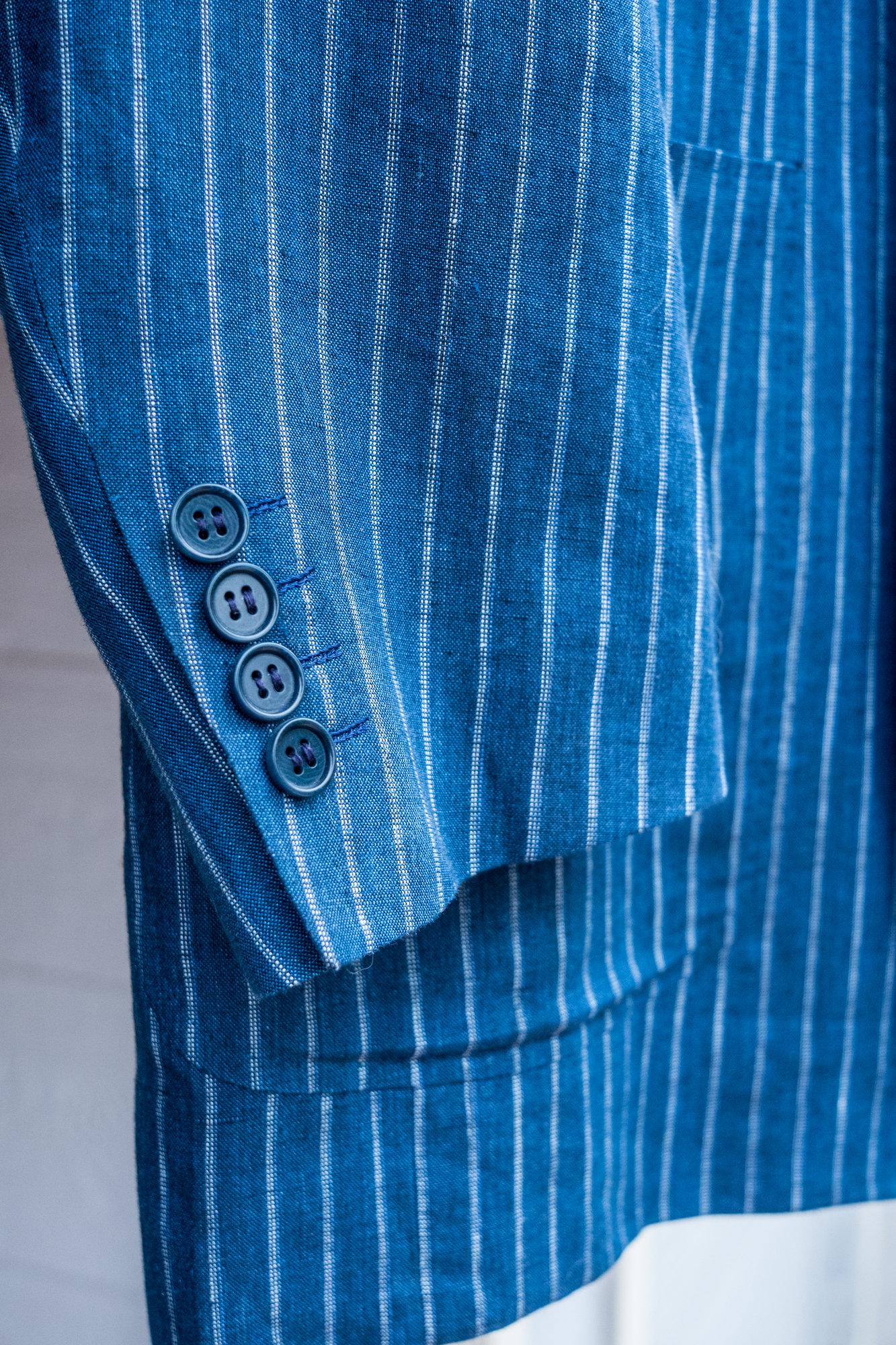 Canali 52 L 100% Linen Pinstripe Jacket-3.jpg