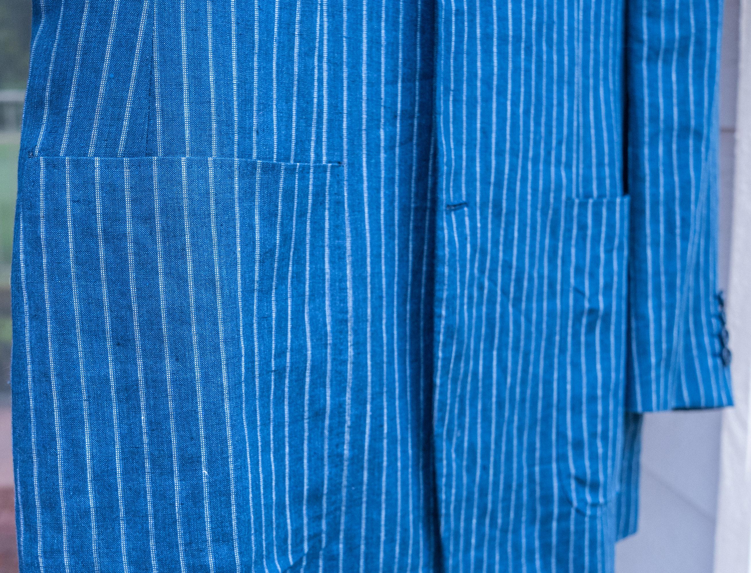 Canali 52 L 100% Linen Pinstripe Jacket-5.jpg