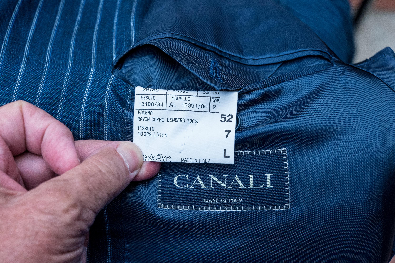 Canali 52 L 100% Linen Pinstripe Jacket-8.jpg