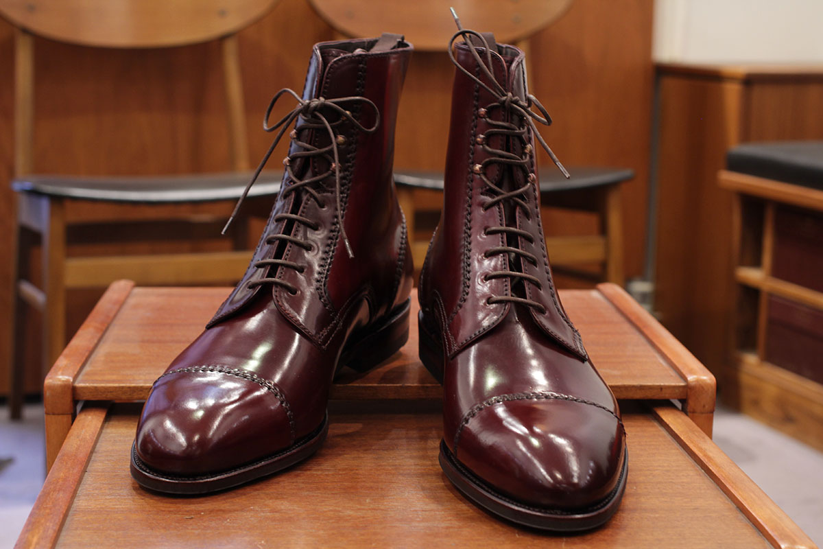 Burgundy Cordovan Leather Jumper Boot Carmina Shoemaker JGFPNeUTP