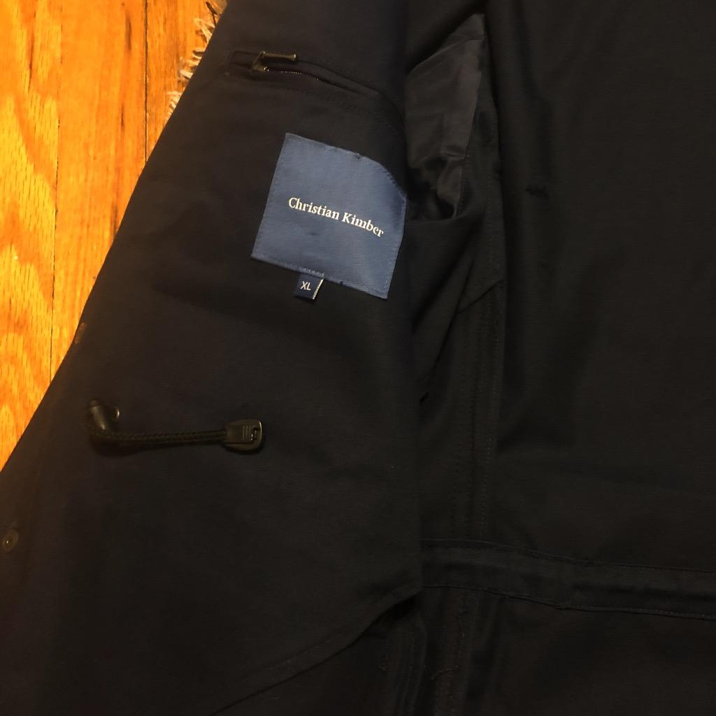 Christian Kimber navy field jacket in size XL_4.jpg