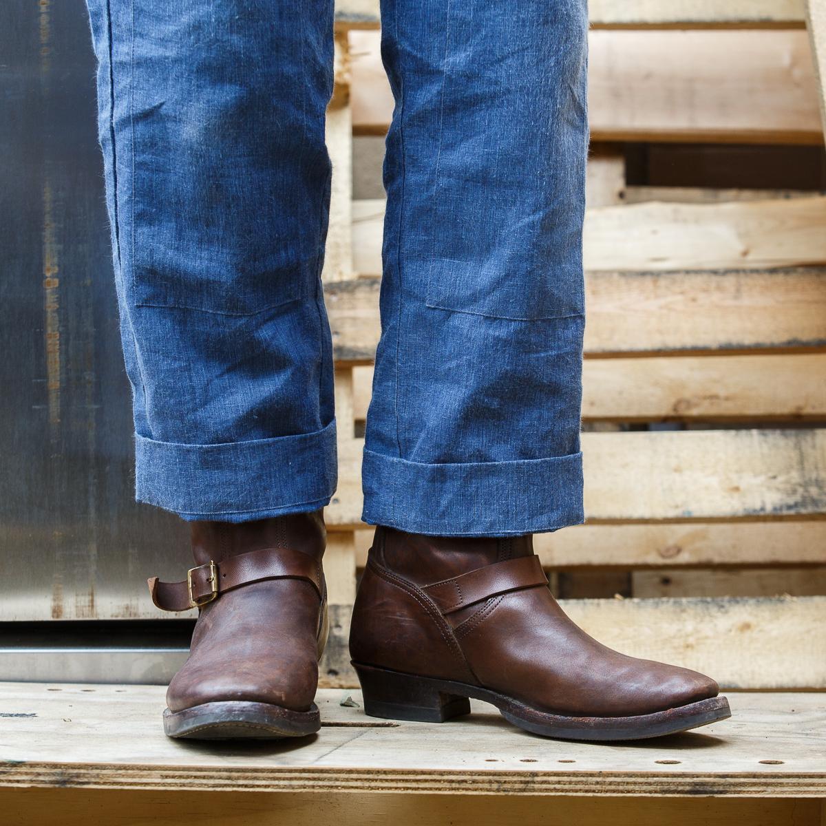 Clinch - Engineer Boot - Brown Overdye Horsebutt - Jeremy Wear-Onbody-5760 x 3840-01.jpg