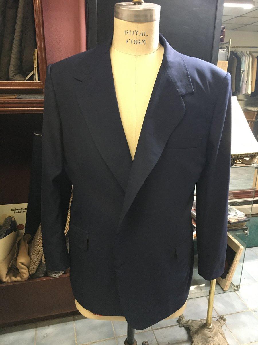 Colleague's Suit Coat - Near Completion.JPG