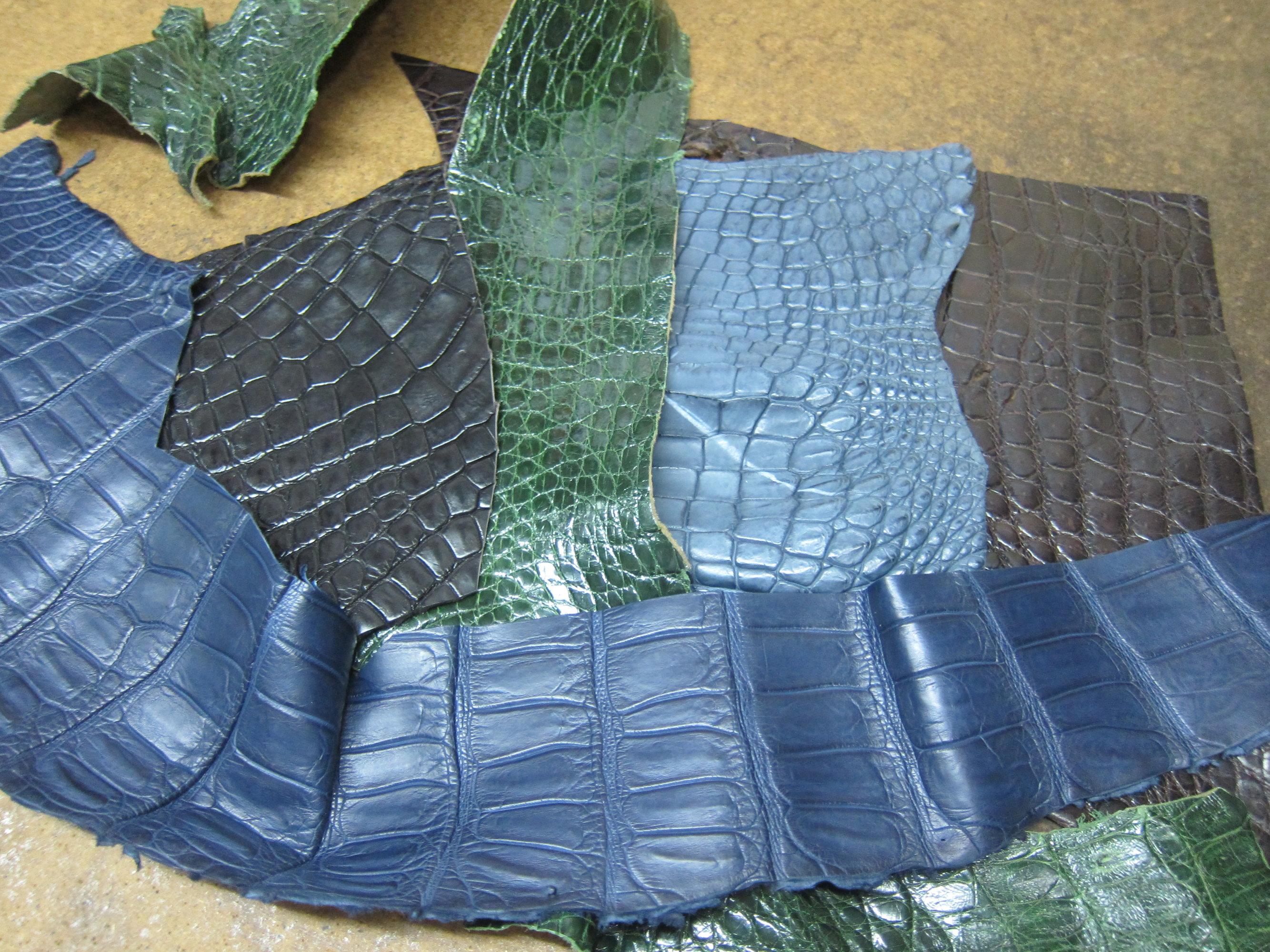 crocodile leather 鱷魚皮.JPG