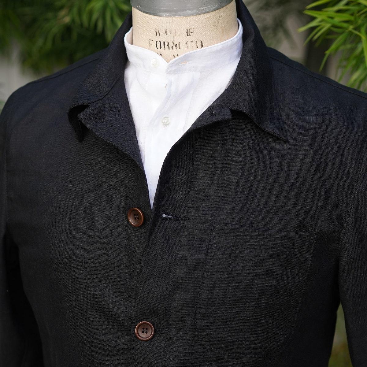 custom doyle black linen detail.jpg
