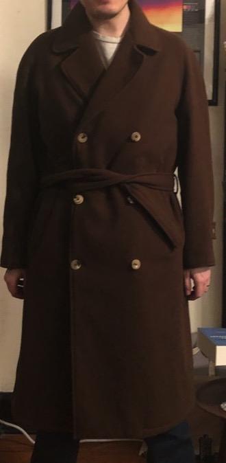 De Bonne Facture chestnut wool Grandad trench coat in size 52.jpg_2.jpg