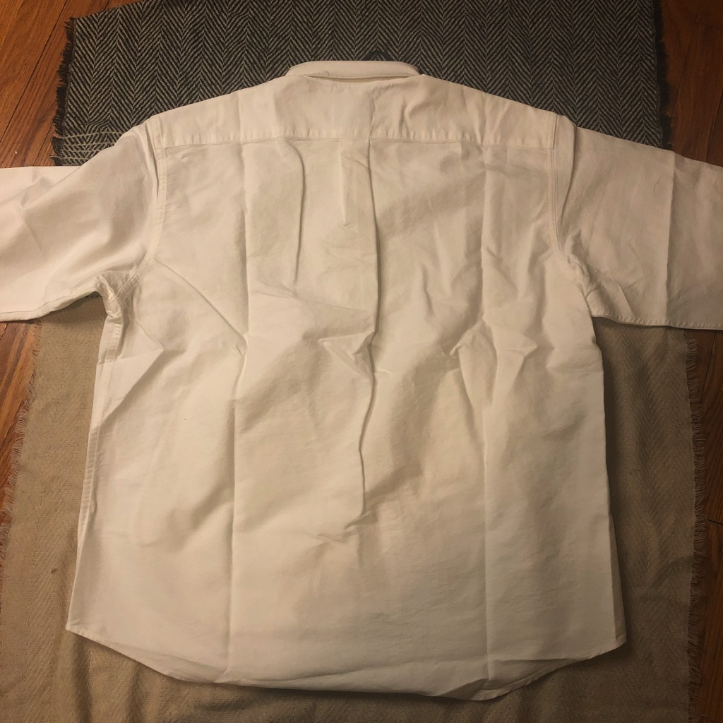 Document relaxed button down oxford shirt in white in size L_4.jpg