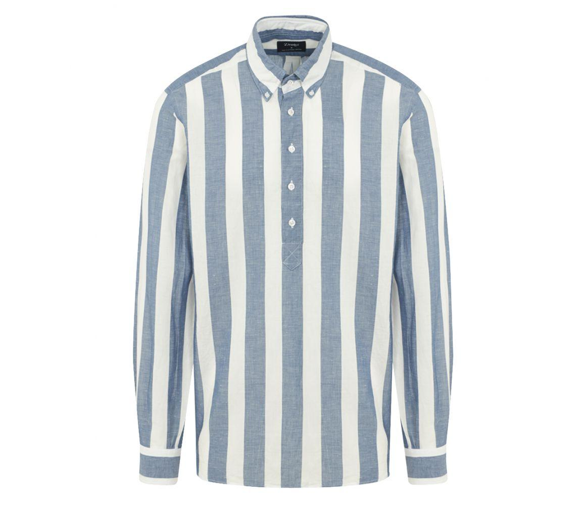 drakes-blue-Blue-And-White-Linen-And-Cotton-Button-down-Shirt.jpeg