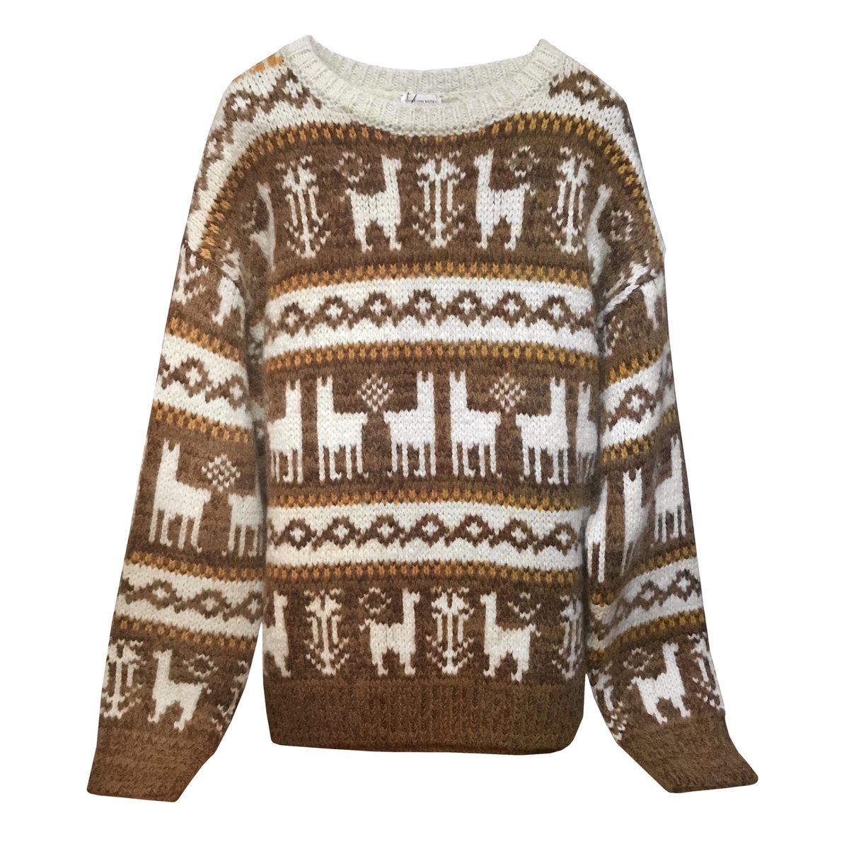 Dries Van Noten Oversized Fair Isle Alpaca Wool Sweater.jpg